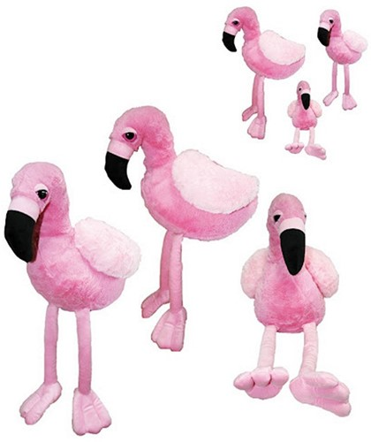 Pluche flamingo 17cm