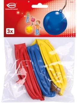 Stansballon 40cm 3 stuks in polybag met header