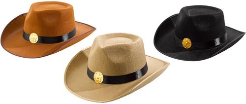 Cowboyhoed Big Billy 3 kleuren assorti