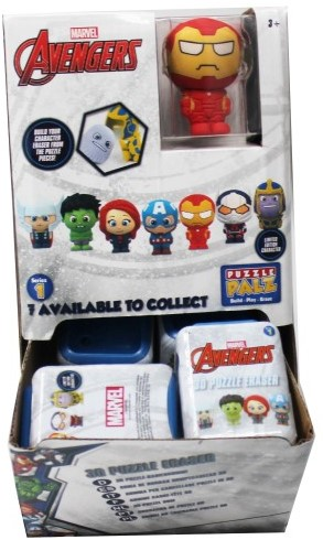 Marvel Avengers 3D Puzzel Gum 7 assorti in display (24) 4,5x6cm