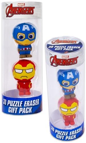 Marvel Avengers Puzzle Palz 3D Puzzel Gum 2-Pack 6x17cm