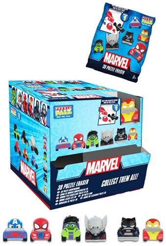 Marvel Avengers Puzzle Palz 3D Puzzel Gum Vehicles assorti in display (24) 4,5x7cm