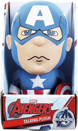 Marvel Pluche Captain America met geluid incl.batt.