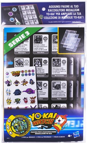 Yo-Kai Watch Collection Book Pages + Stickers + Medaille Serie 3 18x33,5cm