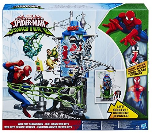 Marvel Spiderman Sinester 6 Webcity Showdown 35x40cm