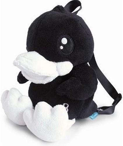 B.Duck Pluche rugzak Eend zwart 30cm