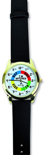 "Bigmouth Horloge ""I am Retired"""