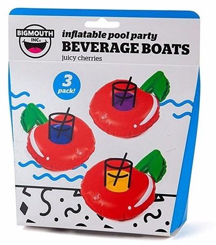 Bigmouth Opblaasbare Drankhouder Juicy Cherries 3-pack