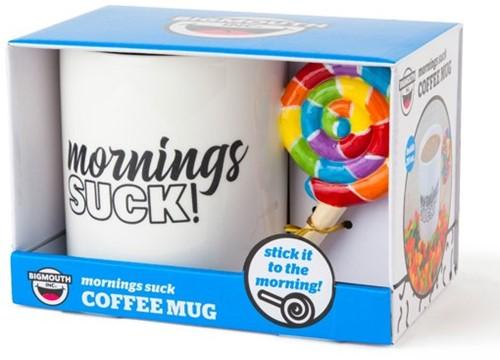 "Bigmouth Mok ""Mornings Suck!"" XL 20OZ 12x18cm"