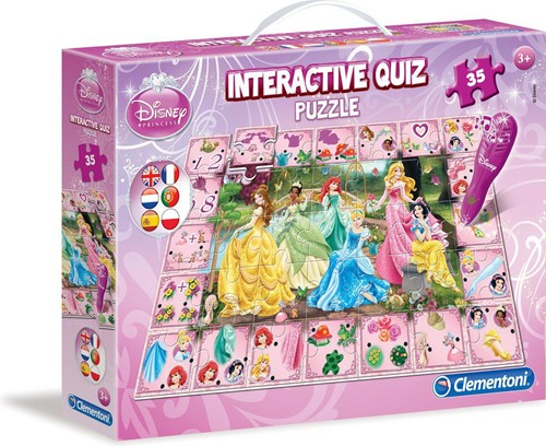 Clementoni Interactive Quiz Puzzle Disney Princess 24x33cm