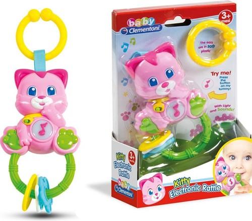 Clementoni Kitty Electronische Baby Rammelaar met licht en geluid