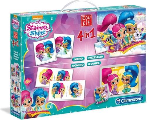 Clementoni Shimmer & Shine Edukit 4in1 (Memo, Puzzel, Domino, Kubus puzzel)