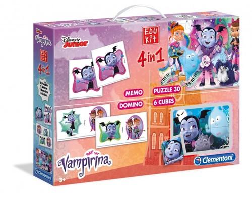 Clementoni Disney Junior Vampirina Edukit 4in1 (Memo, Puzzel, Domino, Kubus puzzel)