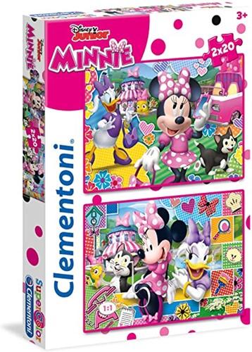 Clementoni Disney Minnie Junior Puzzel 2x20 delig