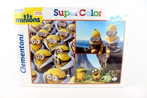 Clementoni Minions Super Color puzzel 3x48 delig