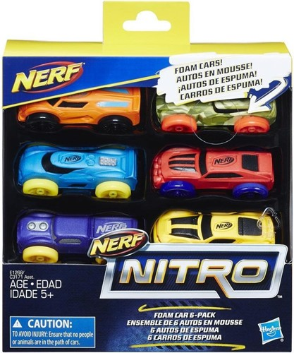 Nerf Nitro Foam Car 6-Pack assorti
