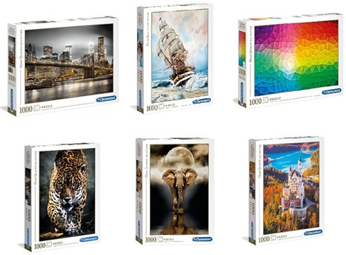 Clementoni High Quality Collection Puzzel 1000 delig 6 assorti 28x37cm
