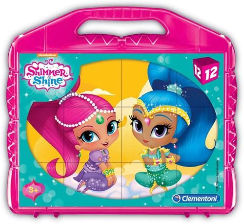 Clementoni Shimmer & Shine Mini Puzzel in koffer 12 delig