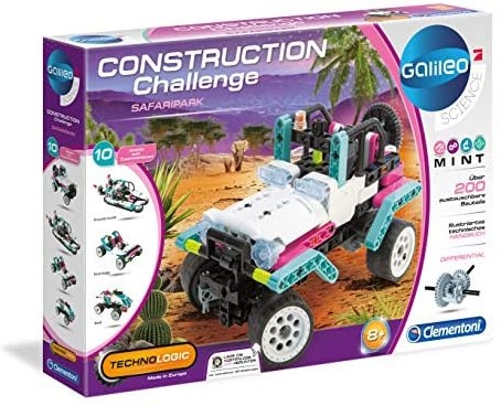 Clementoni Galileo Science Construction Challenge Jeep - Safaripark  28x40cm