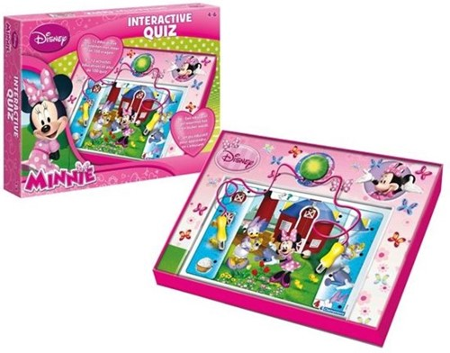 Disney Minnie interactieve quiz 28x37cm (NL + FR)