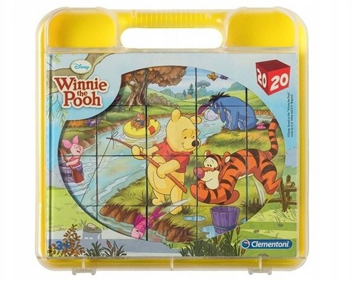 Clementoni Disney Winnie de Poeh Blokpuzzel in koffer 20 delig 21x22cm