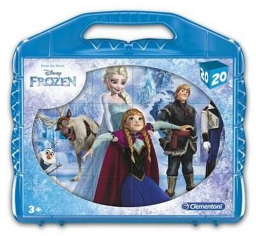 Clementoni Disney Frozen Blokpuzzel in koffer 20 delig 21x22cm