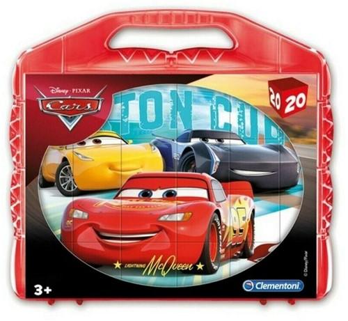 Clementoni Disney Cars Blokpuzzel in koffer 20 delig 21x22cm