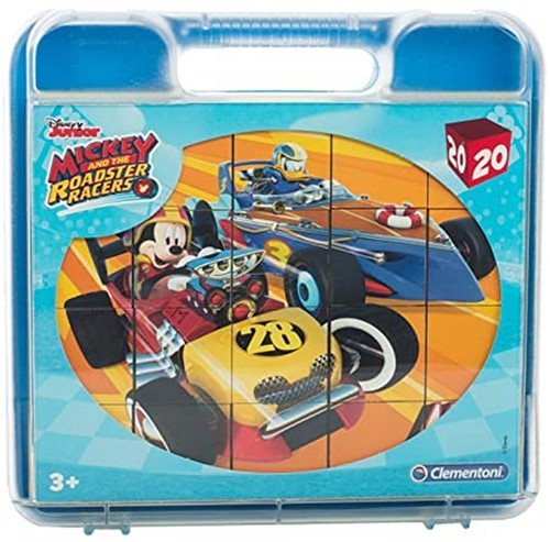 Clementoni Disney Mickey and the Roadster Racers Blokpuzzel in koffer 20 delig 21x22cm