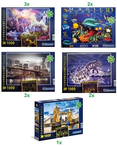 Clementoni High Quality Collection Puzzel 1000 delig 5 assorti 26x35cm