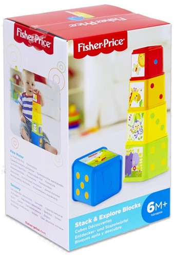 Fisher-Price Kleurrijke stapelblokjes