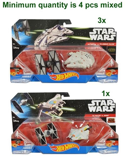 Hot Wheels Star Wars Die-Cast Starships 2 pack 2 assorti