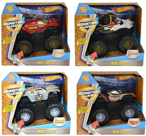 Hot Wheels Monster Jam Rev Tredz assorti