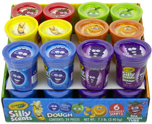 Crayola Silly Scents 5oz Kleipot 8cm Dough Tub in display