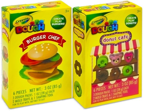 Crayola Dough Burger Chef + Donut Cafe assorti 11x18cm