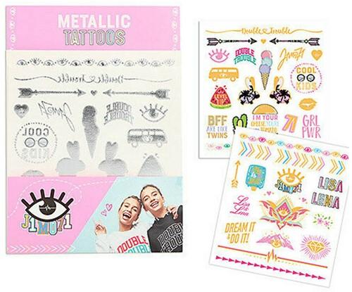Depesche Lisa en Lena tatoeages met metallic effect in display