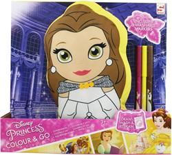 Disney Princess Colour and Go Kussen met stiften 26x29cm