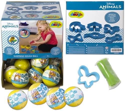 Disney Animals Let's Dough Verrassingskleibal 6cm in display (36)