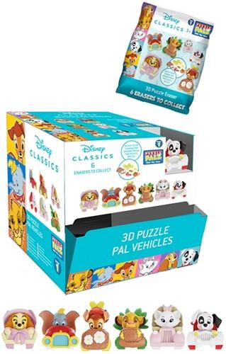 Disney Animals Puzzle Palz 3D Puzzel Gum Vehicles assorti in display (24) 4,5x7cm