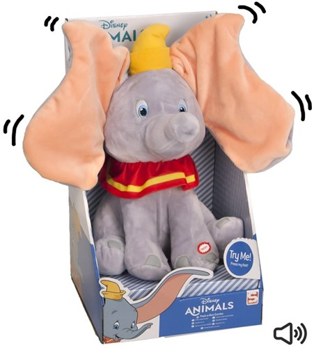 Disney Animals Peek-a-Boo Dumbo Interactiv 30cm