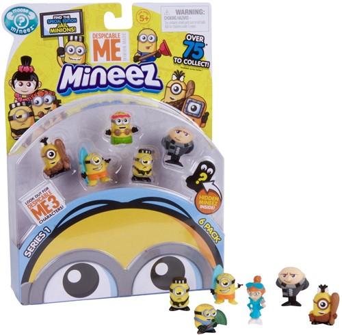 Despicable Me 3 Mineez Minions Verzamelfiguren 6-Pack assorti