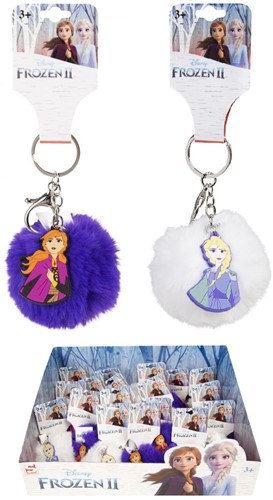 Disney Frozen 2 Pom Pom sleutelhanger assorti in display 7cm