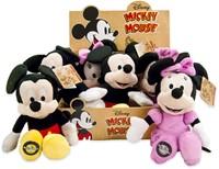 Disney Pluche Mickey & Minnie Mouse 90th Anniversary 2 assorti 22cm