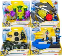 Fisher-Price DC Super Friends Batman Voertuigen 4 assorti 22x19cm