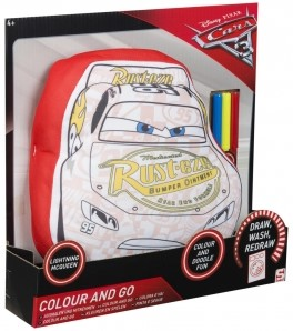 Disney Cars 3 Colour and Go Kussen met stiften 26x29cm