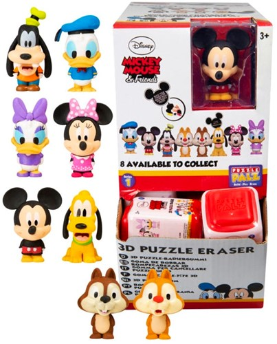 Disney Classic Puzzle Palz 3D Puzzel Gum 7 assorti in display (24) 4,5x6cm