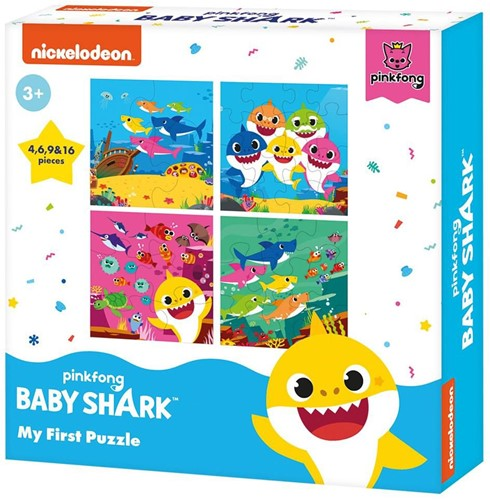 Pinkfong Baby Shark My First Puzzle 3in1 18x18cm