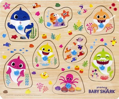 Pinkfong Baby Shark Houten knopjespuzzel 22x26cm