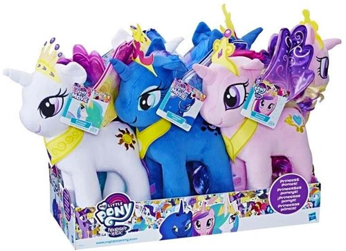 My Little Pony Pluche 3 assorti 34cm (Hasbro)