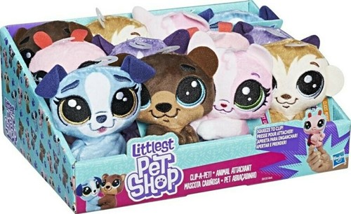 Littlest Pet Shop Clip-a-Pet Pluche 10cm assorti in display