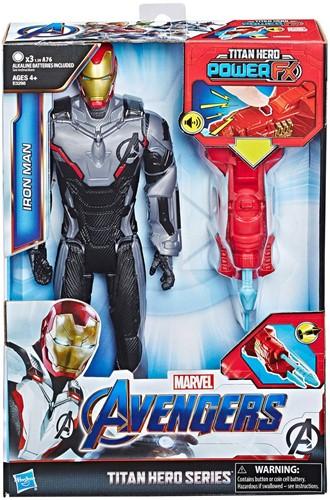 Marvel Avengers gamefiguur, Titan Hero, Power FX, Quantum Power Pack en Iron Man (spreekt alleen Engels)